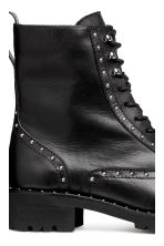 Leather boots with studs - Black - Ladies | H&M IE 4