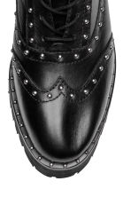 Leather boots with studs - Black - Ladies | H&M IE 3