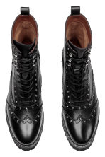 Leather boots with studs - Black - Ladies | H&M IE 2