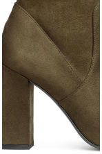 Block-heeled ankle boots - Khaki green - Ladies | H&M CN 4