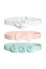 3-pack hairbands - Turquoise/Pink/White -  | H&M 1