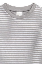 Long-sleeved cotton top - Grey/Striped - Kids | H&M 2