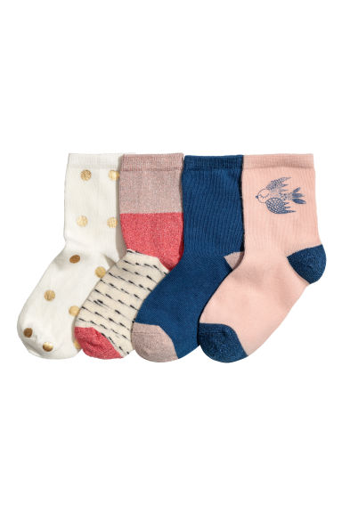 4-pack socks - Powder pink -  | H&M