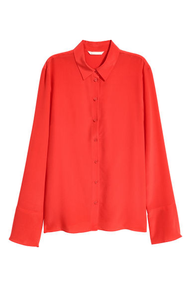 Silk shirt - Red - Ladies | H&M CN 1