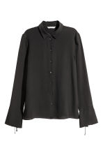 Silk shirt - Black - Ladies | H&M 2