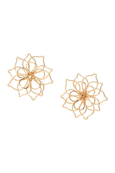 Flower-shaped Earrings - Gold-colored - Ladies | H&M CA 1