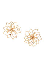 Flower-shaped earrings - Gold-coloured - Ladies | H&M CN 1