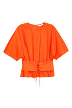 Cotton corset blouse - Orange - Ladies | H&M 2
