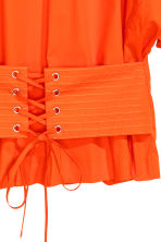 Cotton corset blouse - Orange - Ladies | H&M 3