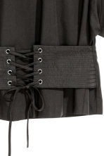 Cotton corset blouse - Black - Ladies | H&M 3