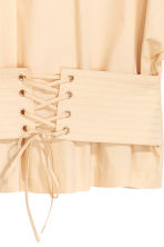 Cotton corset blouse - Light beige - Ladies | H&M 3