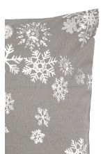 Christmas-print cushion cover - Grey/Snowflakes - Home All | H&M IE 2