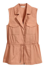 Sleeveless blouse - Camel - Ladies | H&M 2