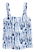 Patterned top - White/Blue pattern - Ladies | H&M 2