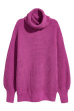 Knitted jumper - Magenta - Ladies | H&M 2