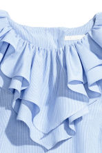 Blouse with a frilled collar - Blue/White/Striped - Ladies | H&M 4