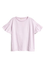 Flounced-sleeve top - Light pink - Ladies | H&M 2