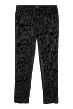 Velour Pants - Black - Men | H&M CA 2