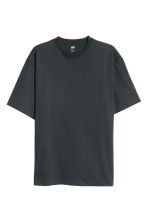 Round-neck T-shirt Relaxed fit - Dark grey - Men | H&M 2