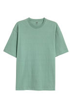 Round-neck T-shirt Loose fit - Green - Men | H&M CN 2