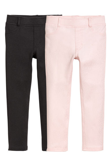 2-pack treggings - Black - Kids | H&M 1