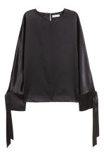 Silk blouse - Black - Ladies | H&M GB 2