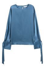Silk blouse - Light blue - Ladies | H&M 2