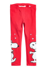 Tricot legging - Rood/Snoopy - KINDEREN | H&M BE 1