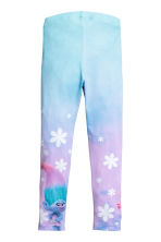 Jersey leggings - Purple/Trolls -  | H&M 3