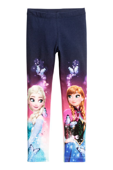 Jersey leggings - Dark blue/Frozen -  | H&M
