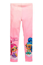 Jersey leggings - Pink/Shimmer and Shine - Kids | H&M CA 2