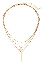 Three-strand necklace - Gold-coloured - Ladies | H&M CN 1