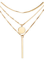 Three-strand necklace - Gold-coloured - Ladies | H&M CN 2