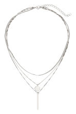 Three-strand necklace - Silver-coloured - Ladies | H&M CN 1