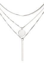 Three-strand necklace - Silver-coloured - Ladies | H&M CN 2