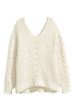 Oversized jumper - Natural white - Ladies | H&M 2