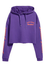 Hooded crop top - Purple - Ladies | H&M 2