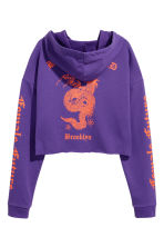Hooded crop top - Purple - Ladies | H&M 3