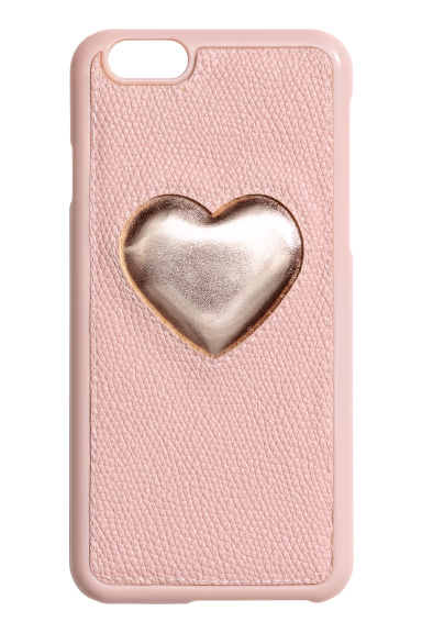 iPhone 6/6s-case - Poederroze/hart - DAMES | H&M NL 1