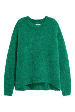 Wool-blend jumper - Green - Ladies | H&M GB 2