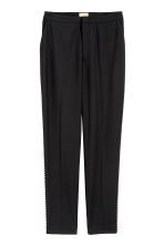 Suit trousers with studs - Black - Ladies | H&M CN 2
