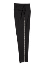 Suit trousers with studs - Black - Ladies | H&M CN 3