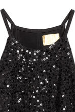 Sequined crop top - Black - Ladies | H&M 3
