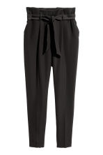 Paper bag trousers - Black - Ladies | H&M IE 2