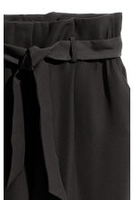 Paper bag trousers - Black - Ladies | H&M 4