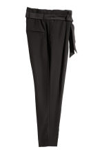 Paper bag trousers - Black - Ladies | H&M 3