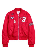 Padded Bomber Jacket - Red - Kids | H&M CA 2