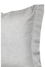 Washed linen pillowcase - Light grey - Home All | H&M CN 3