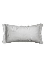 Washed linen pillowcase - Light grey - Home All | H&M IE 1