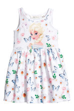 Jersey dress - White/Frozen - Kids | H&M 1